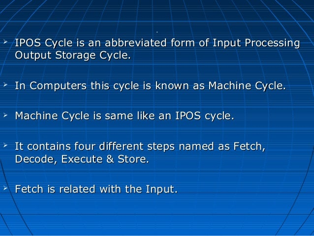 What is ipo cycle explain