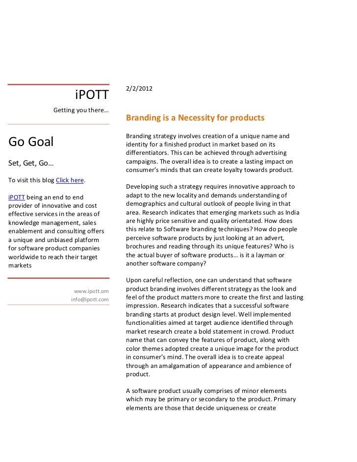 2/2/2012                          iPOTT                 Getting you there…                                         Brandin...