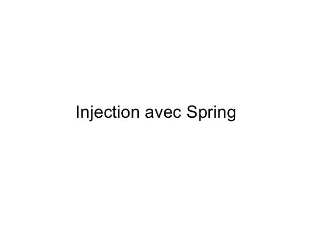 Injection avec Spring