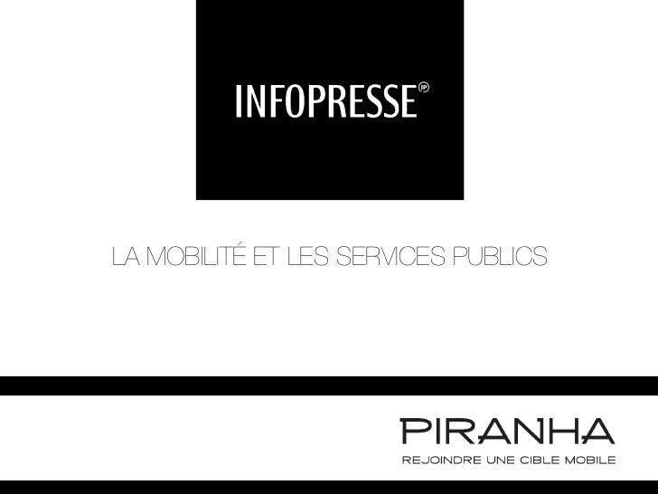 LA MOBILITÉ ET LES SERVICES PUBLICS