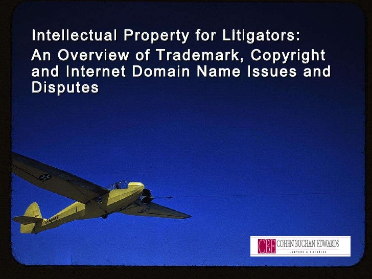 Intellectual Property for Litigators:  An Overview of Trademark, Copyright and Internet Domain Name Issues and Disputes