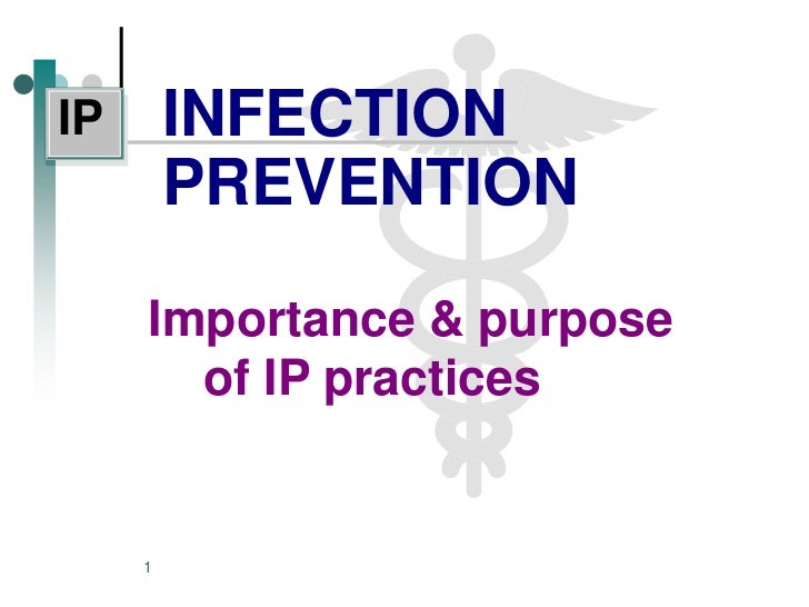 IP       INFECTION         PREVENTION     Importance & purpose       of IP practices     1