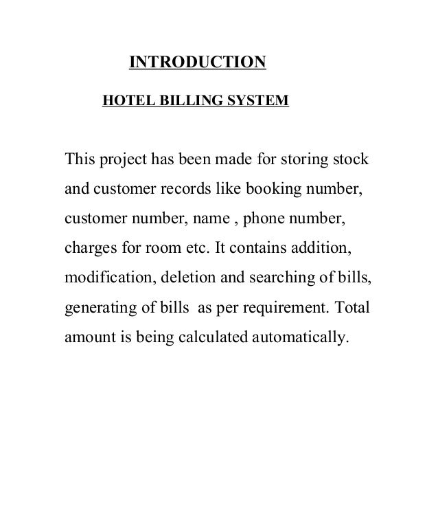 Introduction to hotel reservation system essay Essay Help