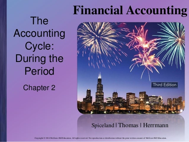 The Accounting Cycle: During the Period  Financial Accounting  Chapter 2  Spiceland | Thomas | Herrmann Copyright © 2014 M...
