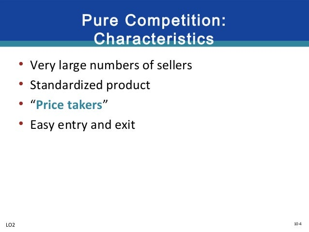 what are the characteristics of pure competition