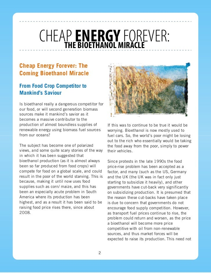 Cheap But Energy Efficient House Design: Cheap Energy Forever: The Bioethanol Miracle
