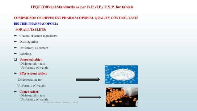 In Process Quality Control System (IPQC) for Solid Dosages Form (Tabl…