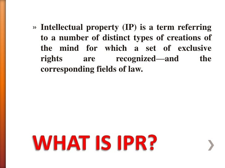 Intellectual Property Rights Slide 2