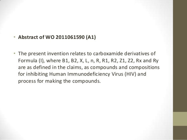 • Abstract of WO 2011061590 (A1)• The present invention relates to carboxamide derivatives of  Formula (I), where B1, B2, ...