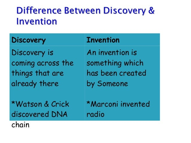 is a discovery an invention or The starting point for making proposals that increase the rate of innovation in  firms is to discuss closely related social processes of discovery and invention.