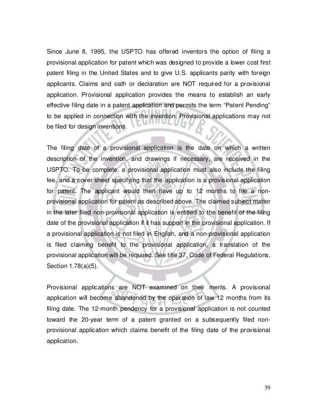 Generous Non Provisional Patent Template Photos - Example Resume ...