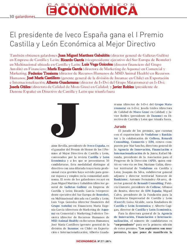 aime Revilla, presidente de Iveco España, es el ganador del Premio de Honor de los I Pre- mios al Mejor Directivo de Casti...