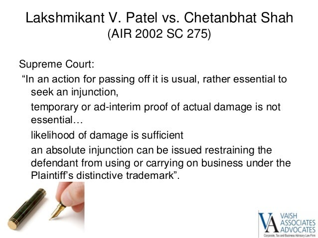 Landmark trademark case judgement