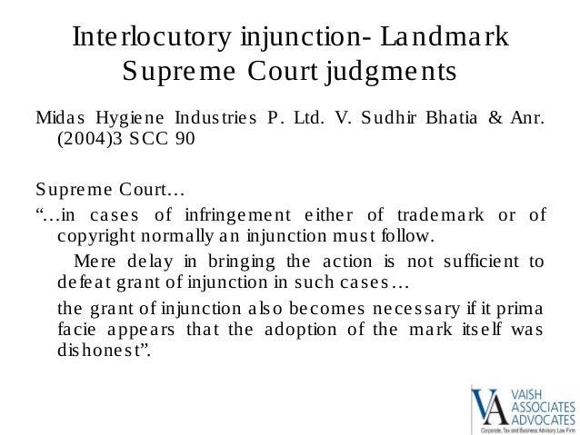 Landmark trademark case judgement