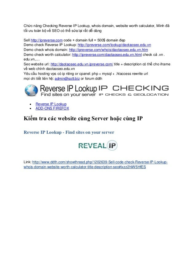 Reverse IP Lookup - Find sites on your server