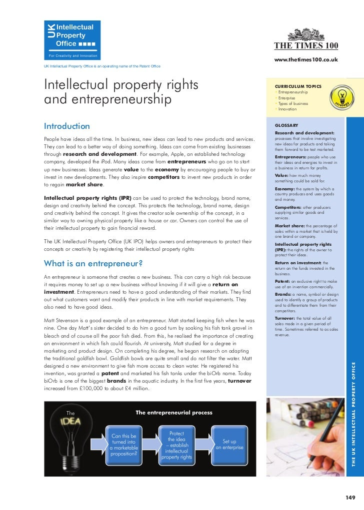 www.thetimes100.co.uk UK Intellectual Property Office is an operating name of the Patent Office     Intellectual property ...