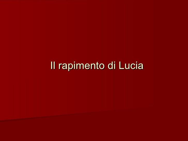 Il rapimento di Lucia