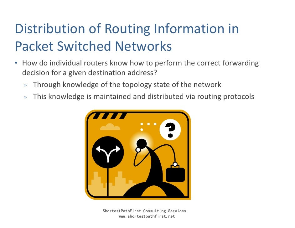Distribution of Routing Information in Packet Switched Networks • How do individual routers know how to perform the correc...