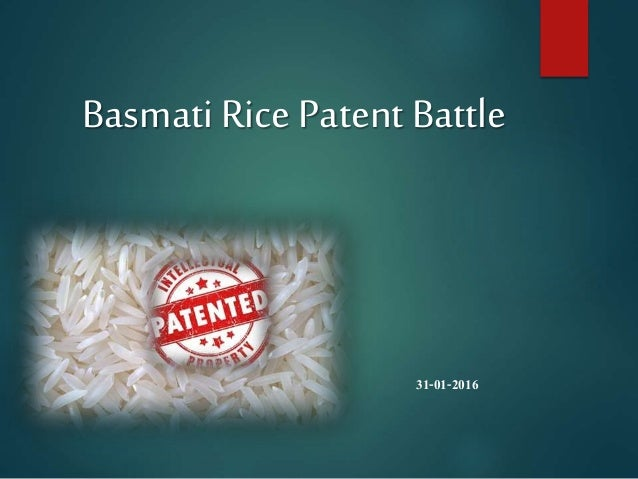 Case study on basmati rice