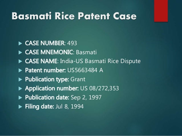 A Study of the Basmati Case - SSRN