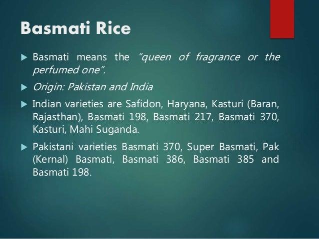Case study on basmati