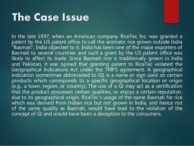 Basmati Rice Case Study - Essays