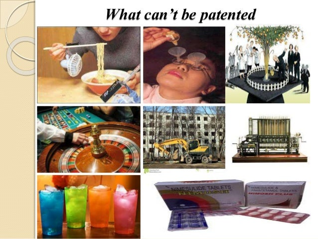 What can't be patented