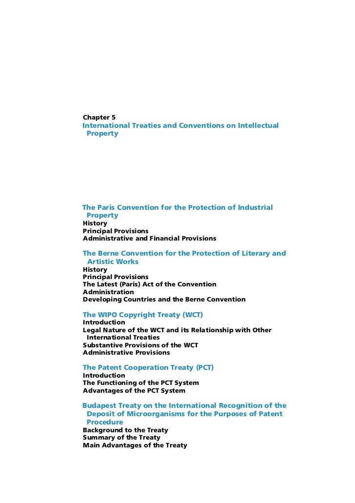 Chapter 5International Treaties and Conventions on Intellectual PropertyThe Paris Convention for the Protection of Industr...