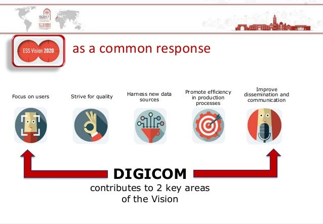 as a common response DIGICOM contributes to 2 key areas of the Vision Focus on users Strive for quality Harness new data s...