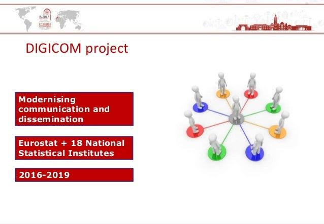 DIGICOM project Modernising communication and dissemination Eurostat + 18 National Statistical Institutes 2016-2019