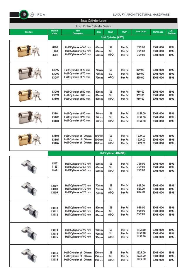 IPSA INDIA Price List 2018