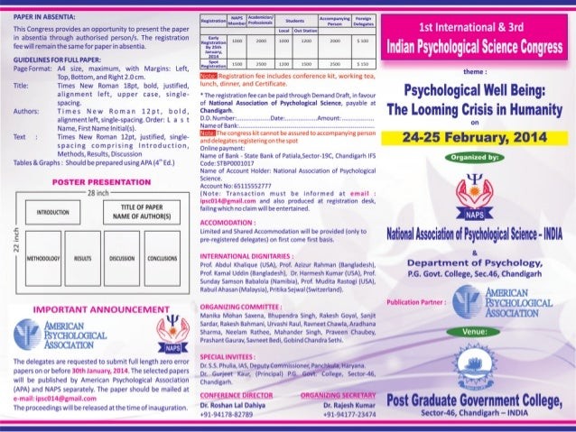 PSYCHOLOGICAL SCIENCE CONGRESS-2014
