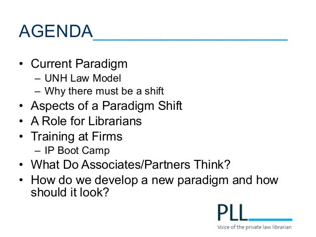 Shift This!: A Paradigm for Integrating Law School & Law Firm Patent Research.  Slide 3