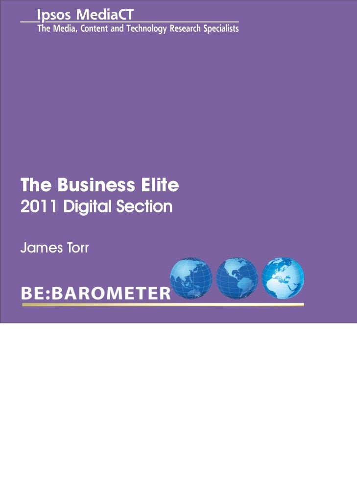 Title to go hereThe Business Elite2011 Digital SectionSub heading to go hereJames Torr