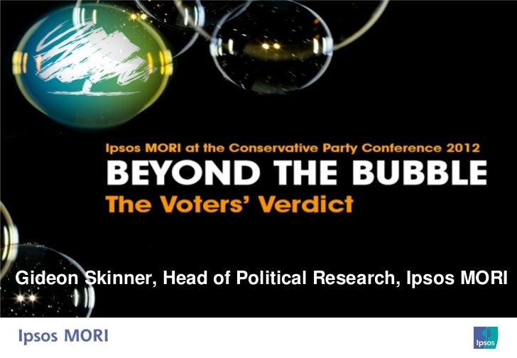 Gideon Skinner, Head of Political Research, Ipsos MORI