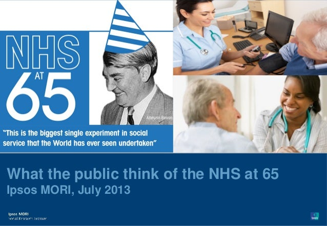 Version 1 | Confidential© Ipsos MORI What the public think of the NHS at 65 Ipsos MORI, July 2013