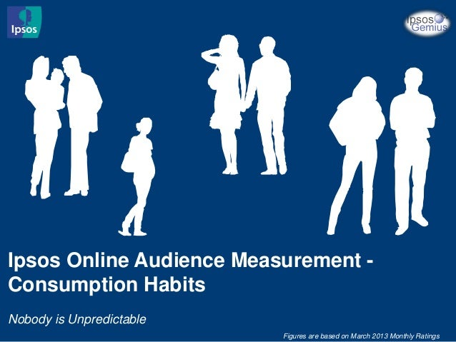 Ipsos Online Audience Measurement - Consumption Habits Nobody is Unpredictable Figures are based on March 2013 Monthly Rat...