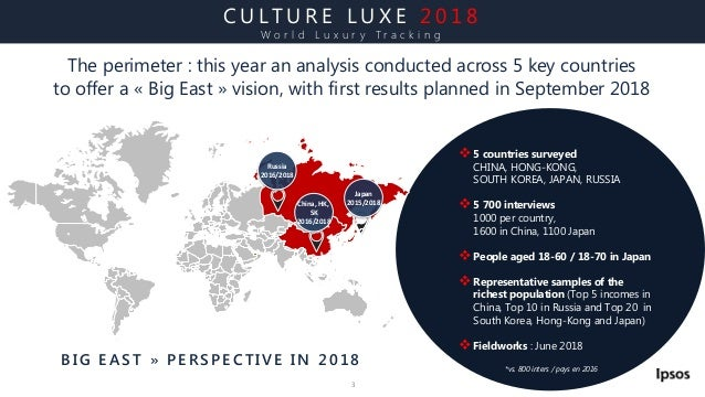 World Luxury Tracking 2018 - Culture Luxe