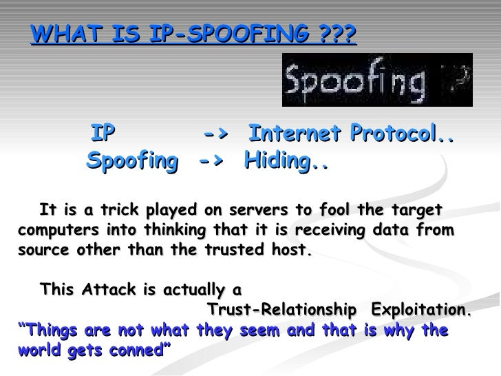 Whats spoofing