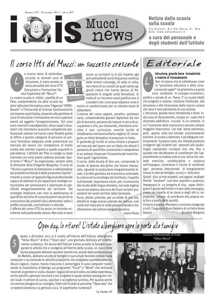 i is            Numero 30 - Dicembre 2011 - Anno XII                                                                      ...