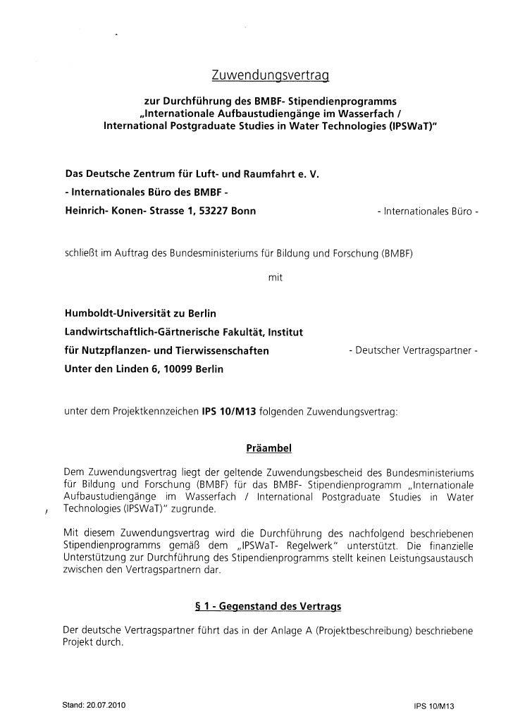 Zuwendngsvertrag                                                        u                        zur Durchführung BMBF-   ...