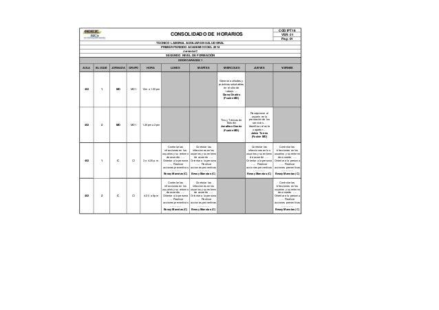 COD IPT18 VER: 01 Pag: 01 AULA BLOQUE JORNADA GRUPO HORA LUNES MARTES MIERCOLES JUEVES VIERNES 402 1 MD MD1 12m a 1.30pm G...