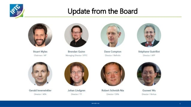 Update from the Board www.iptc.org 1