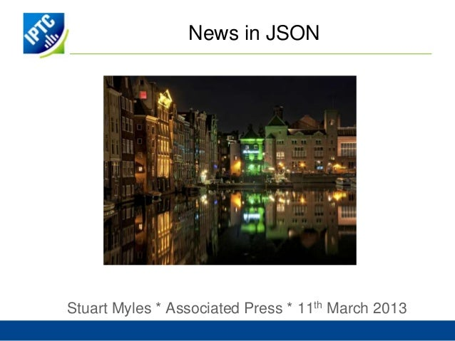 News in JSONStuart Myles * Associated Press * 11th March 2013