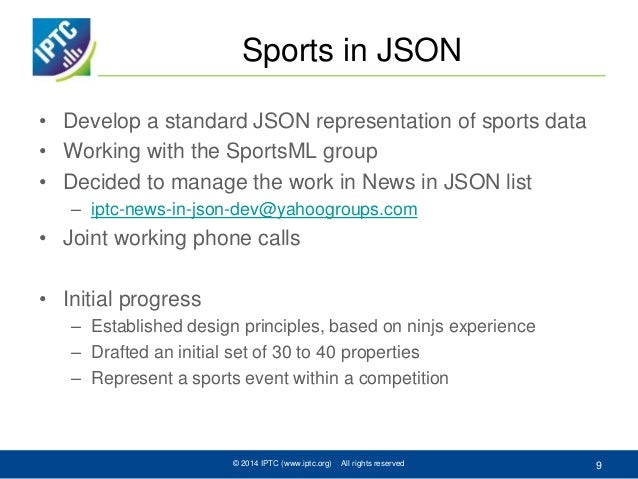 iptc news in json and sports in json
