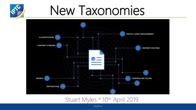 New Taxonomies Stuart Myles * 10th April 2019 www.iptc.org