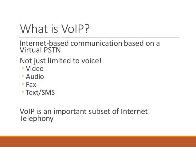 Introduction To Ip Telephony Amp Voip