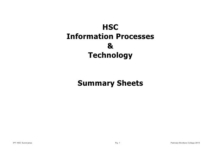 HSC                    Information Processes                              &                         Technology            ...