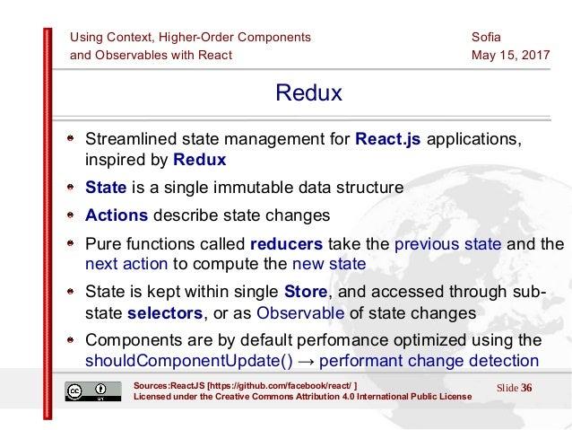 React HOCs, Context and Observables