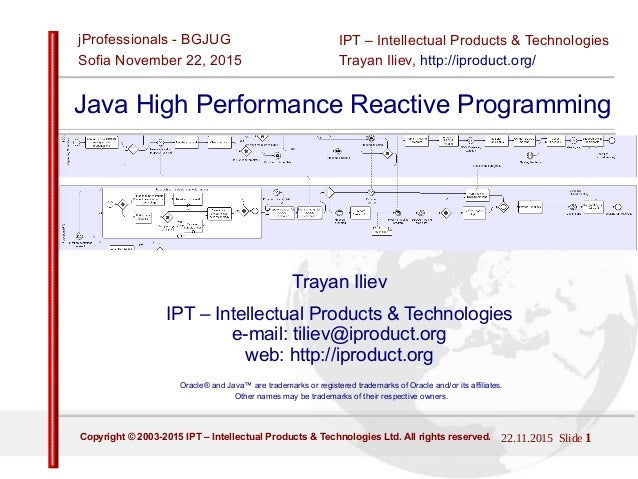 22.11.2015 Slide 1Copyright © 2003-2015 IPT – Intellectual Products & Technologies Ltd. All rights reserved. IPT – Intelle...
